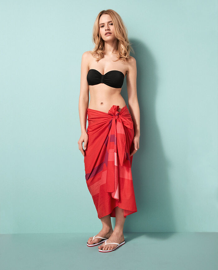 Sarong Coral orange Princesse tam.tam x uniqlo