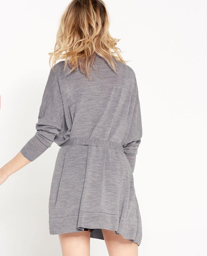 EXTRA Flecked grey Long-sleeved cardigan