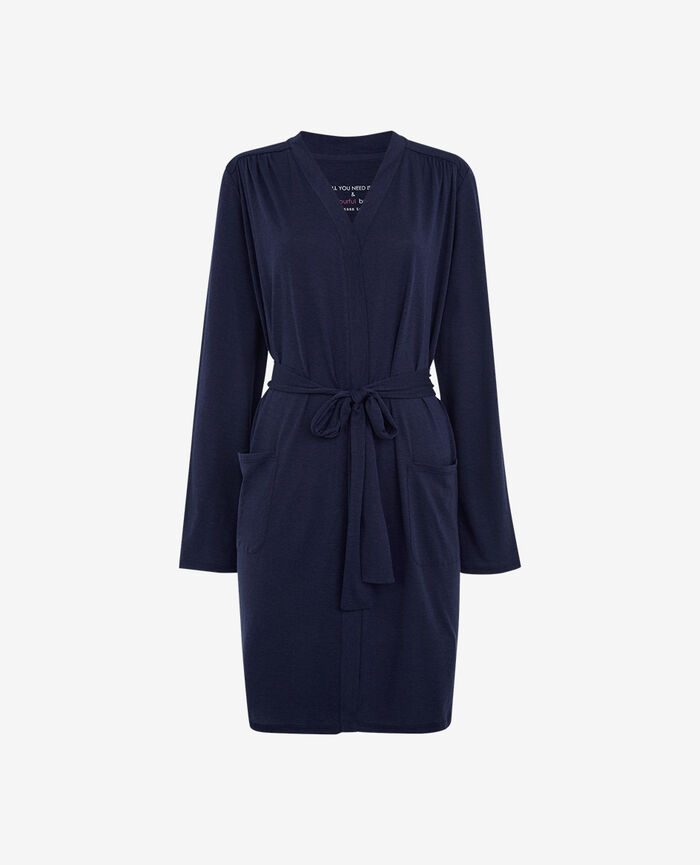 Bathrobe Navy Latte