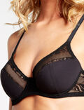 ADDICT Black Demi push-up bra
