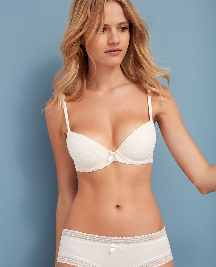 Soutien-gorge push-up mousses Blanc rosé Belle