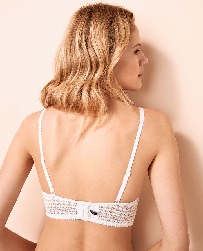 Padded long-line bra Ivory Saga