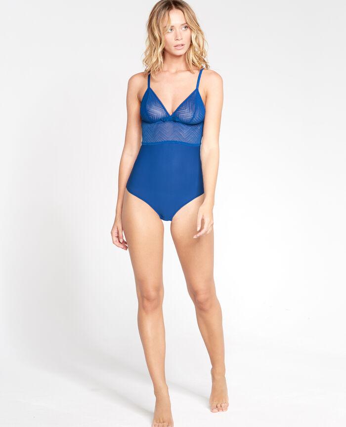 MINA Bleu néoprène Body