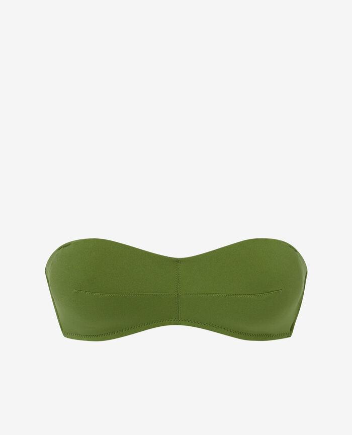 Gepolstertes Bandeau-Bikini-Oberteil ohne Bügel Philo Grün NUMA