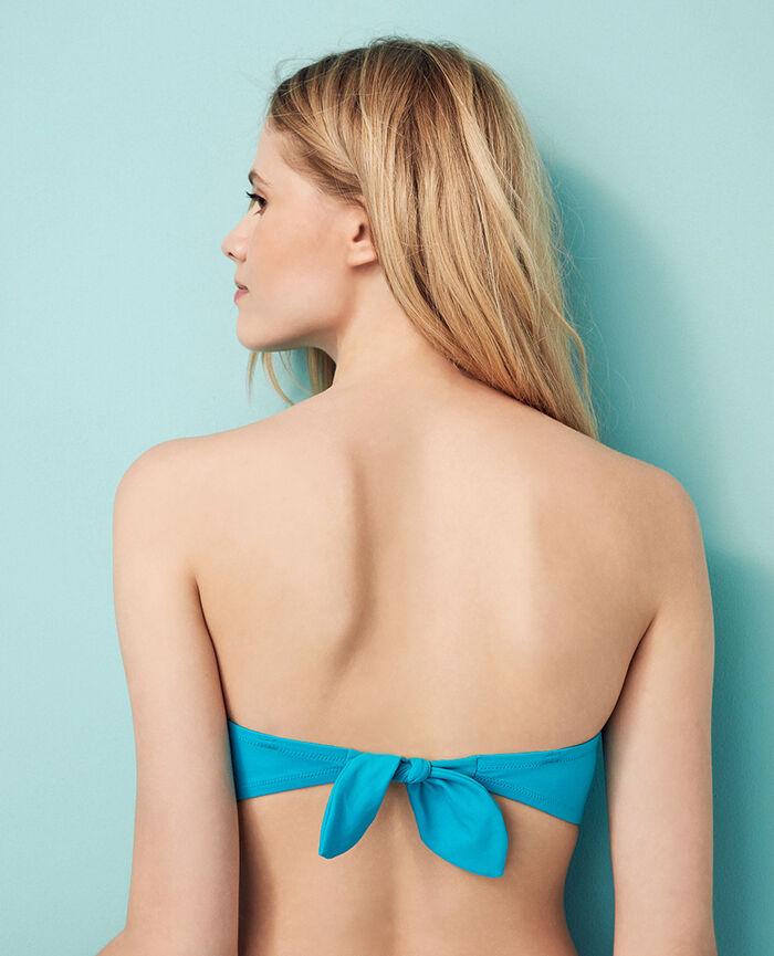 Padded strapless bikini top Turquoise Princesse tam.tam x uniqlo