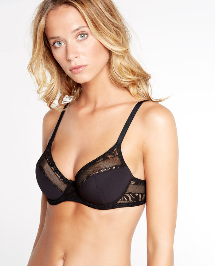 ADDICT Black Demi push-up bra