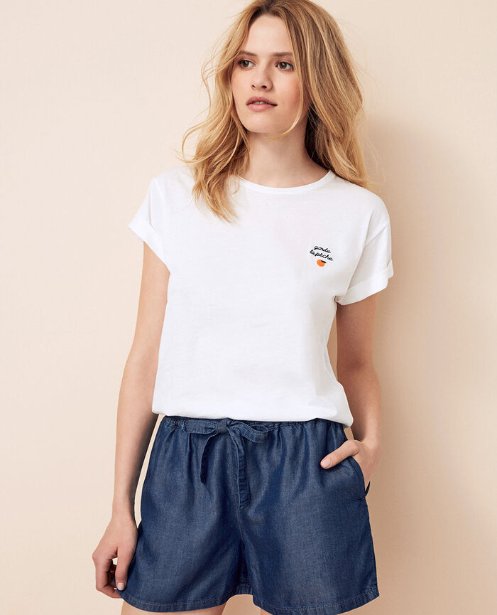 T-shirt manches courtes Pêche Fruit collection