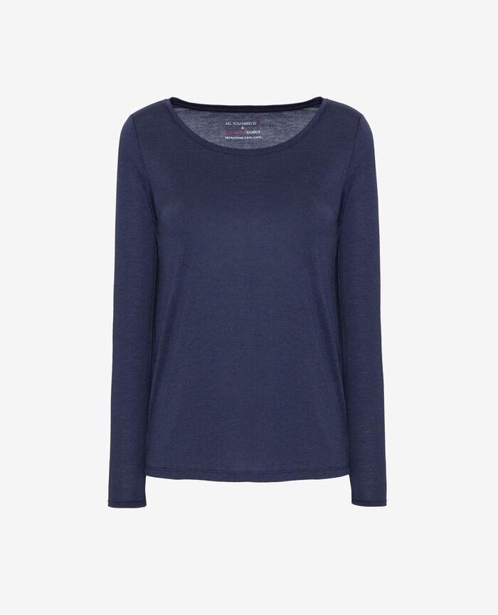 Long-sleeved t-shirt Navy Latte