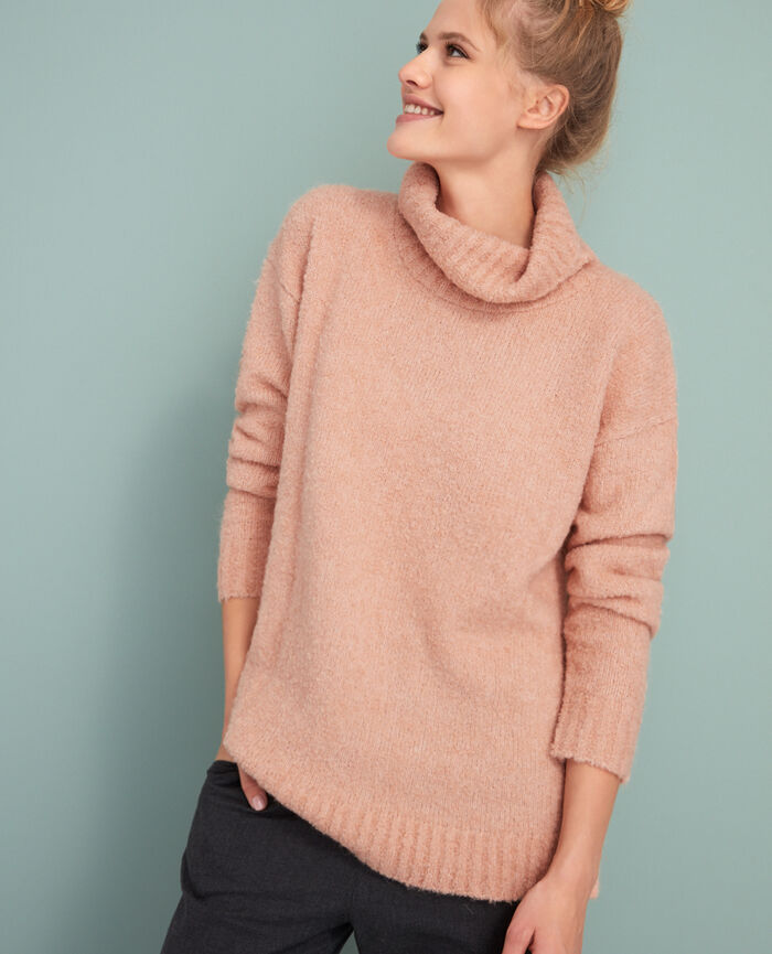 Turtle-neck jumper Jazz rose Loop