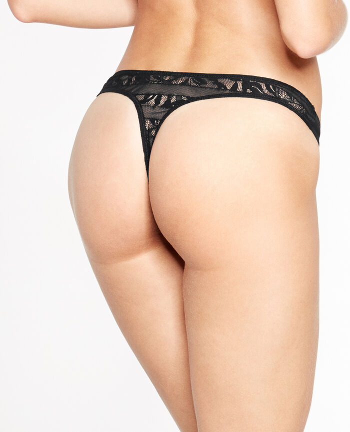 ADDICT Black Thong