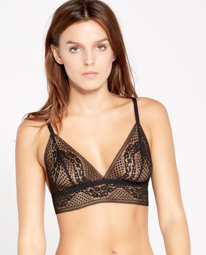 VERTIGE Black Soft cup bra