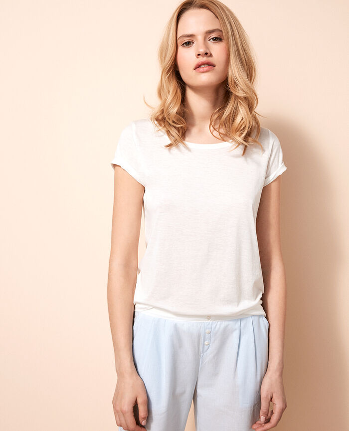 Short-sleeved t-shirt Ivory Latte