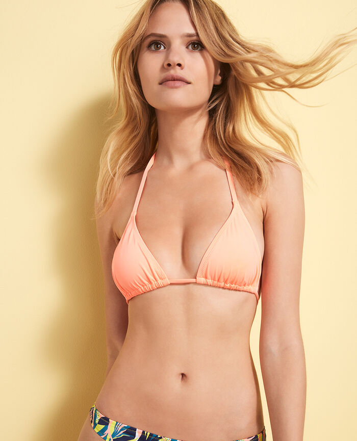 Padded triangle bikini top Cheeky orange Mix & match