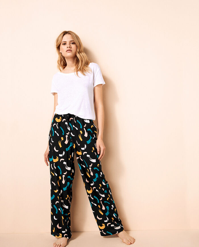 Wide pants Black Relax