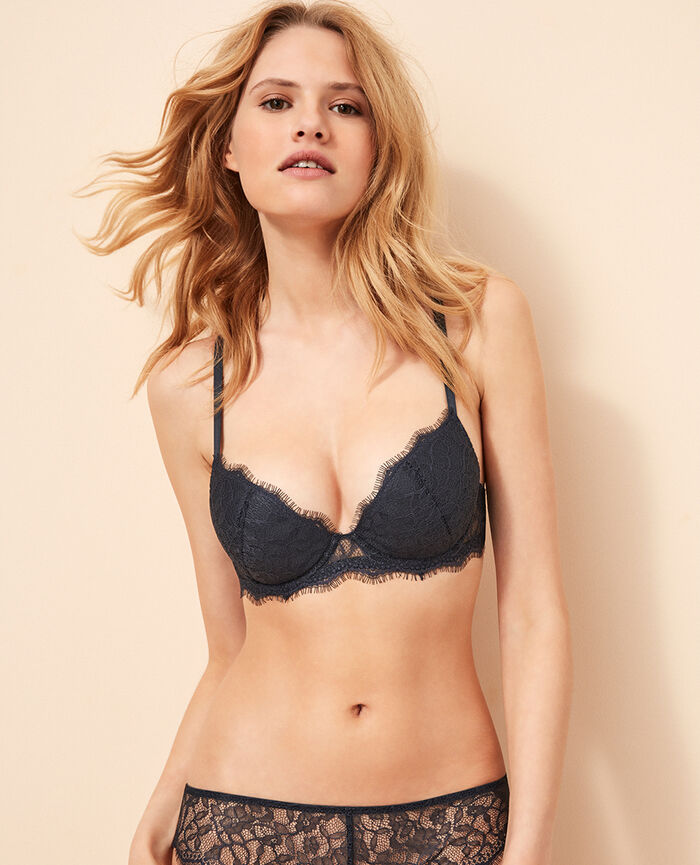 Padded push-up bra Kinetic grey Taylor