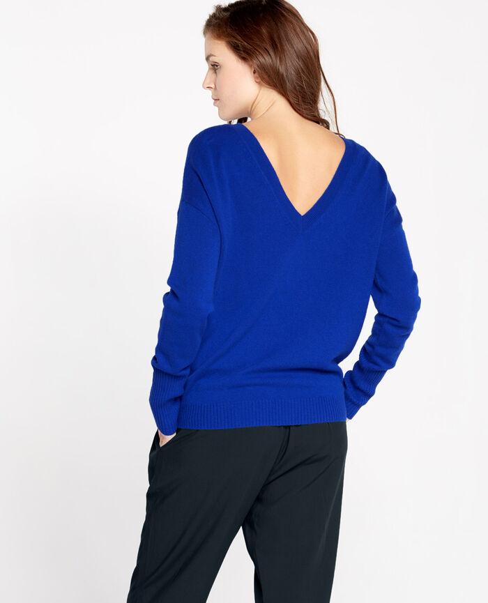 V-neck jumper Blue splash Cozy