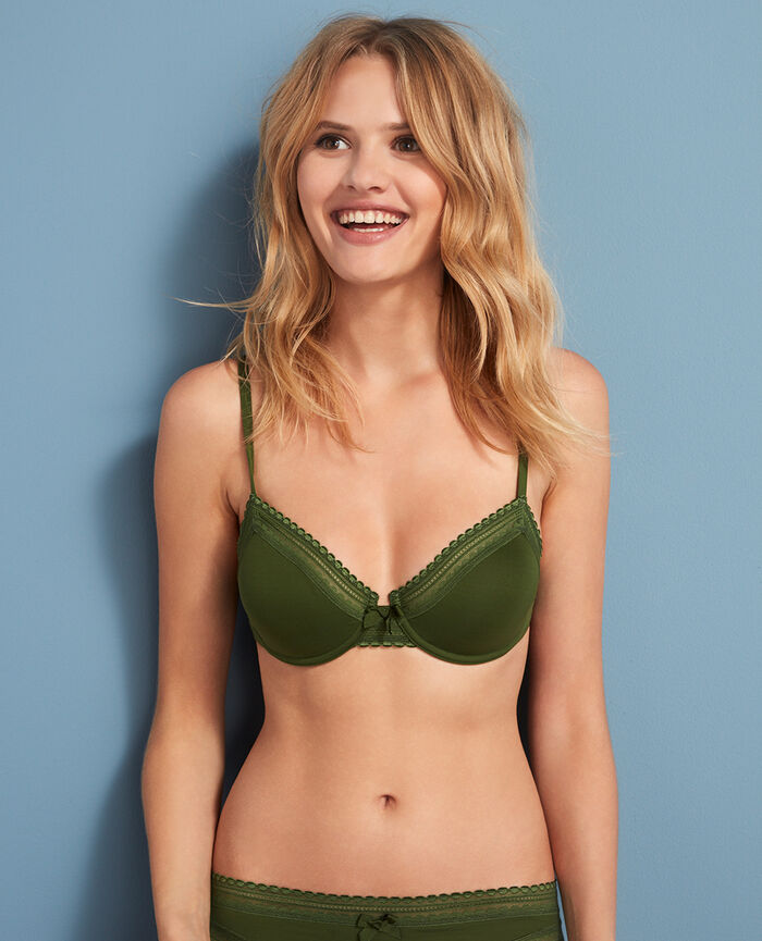 Underwired bra Agency green Beaute