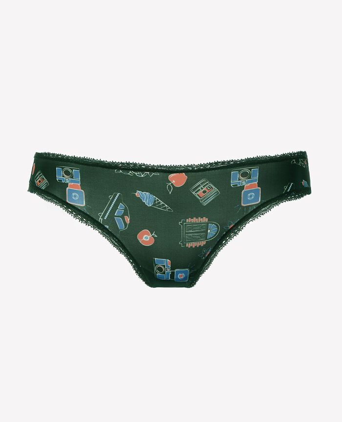 Hipster briefs Taxi green Take away