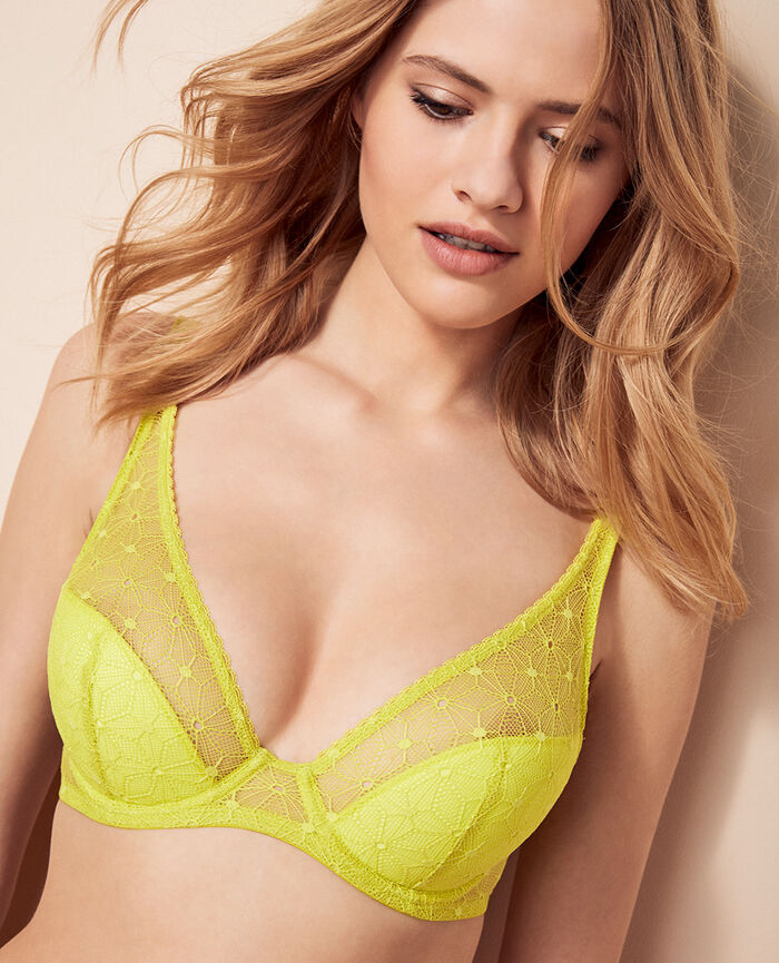 Soutien-gorge demi push-up Jaune sunset Voodoo