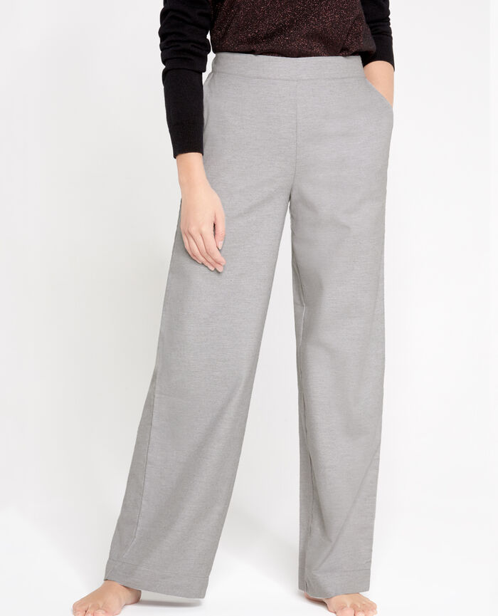 SOFT Gris chiné Pantalon large