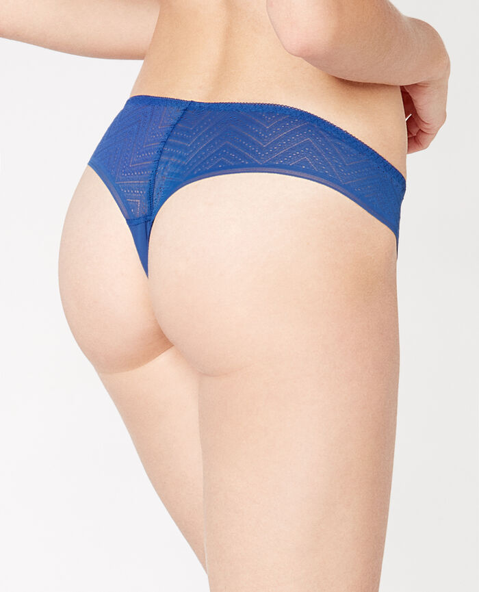 MINA Neoprene blue Brazilian briefs