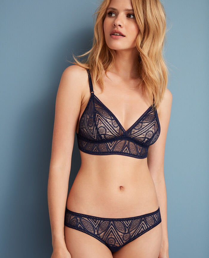 Soft cup bra Manhattan blue Boheme