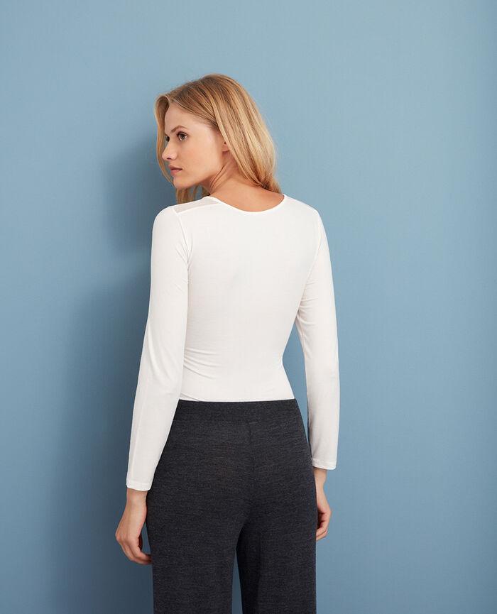 INNERWEAR Blanc rosé T-shirt manches longues
