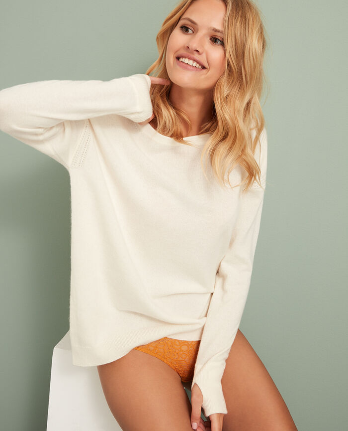Boatneck jumper Ivory Cozy