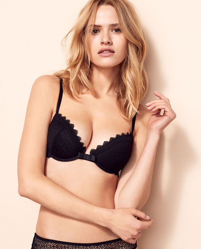 Soutien-gorge push-up mousses Noir Insolente