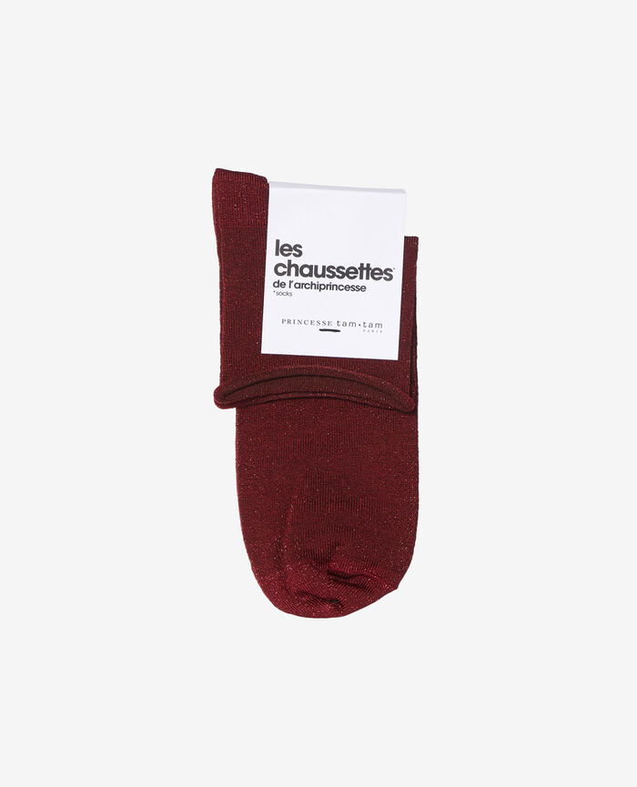Socks Leather red Pearl
