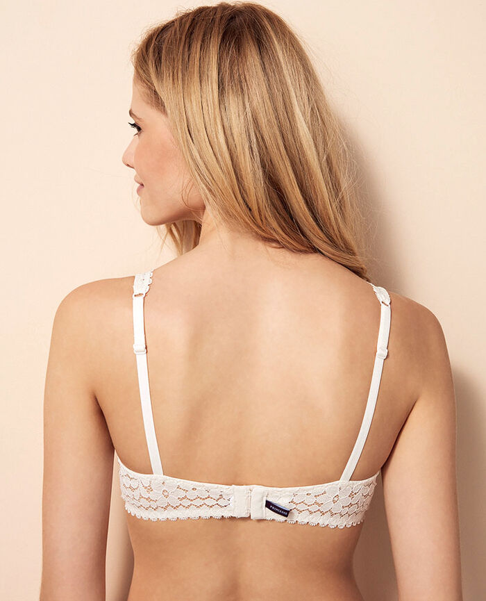 Underwired triangle bra Rose white Monica
