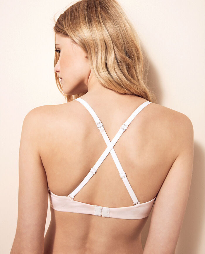 AIR LINGERIE Rose plume Soutien-gorge triangle spacer