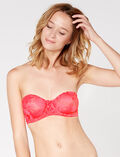 Strapless bra Neon pink Extasie