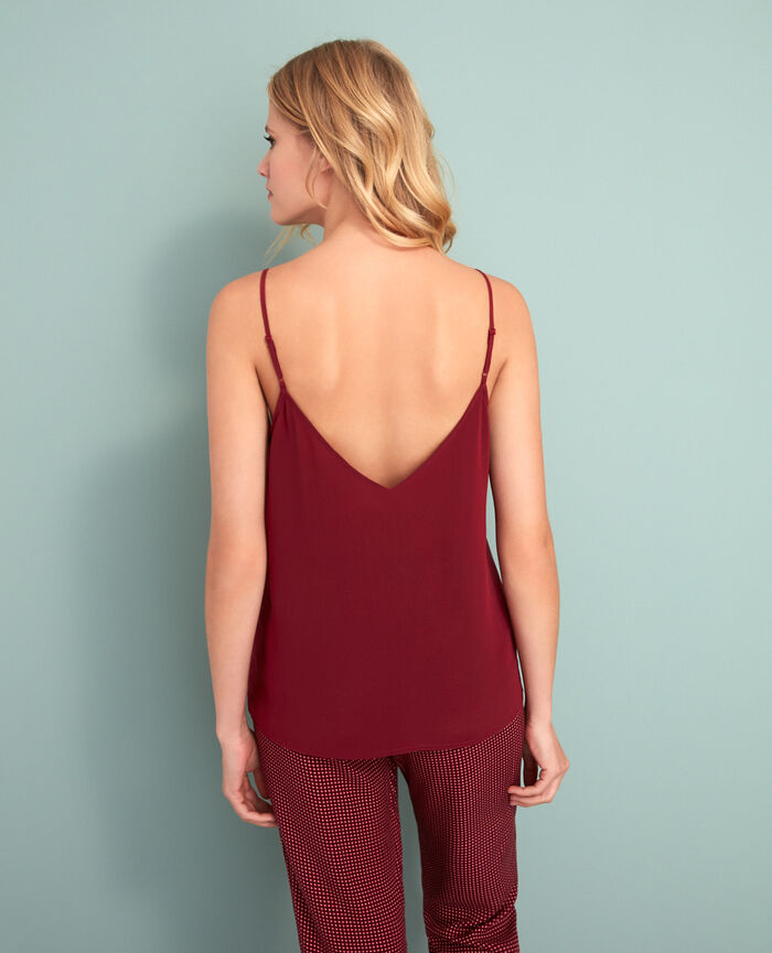 Cami Leather red Valentine