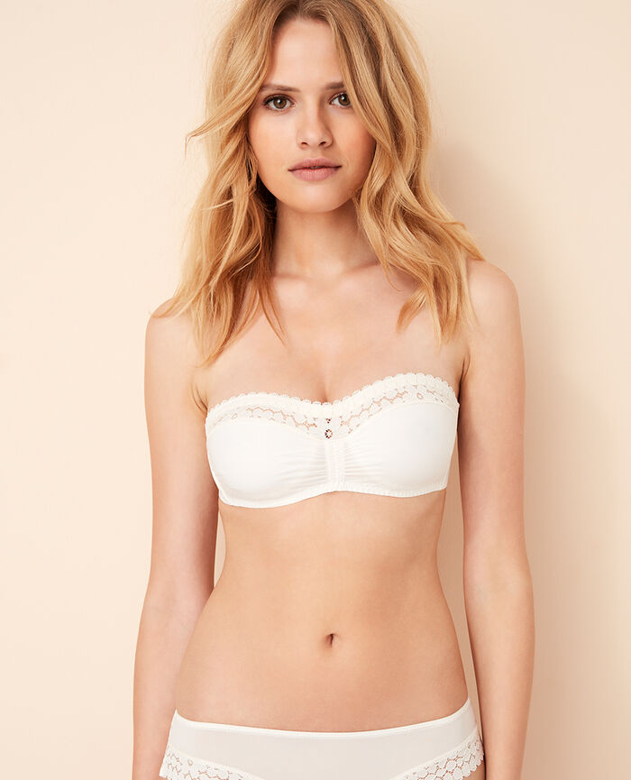 Strapless bra Rose white Monica