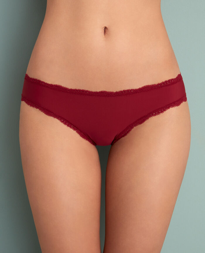Hipster briefs Leather red Take away