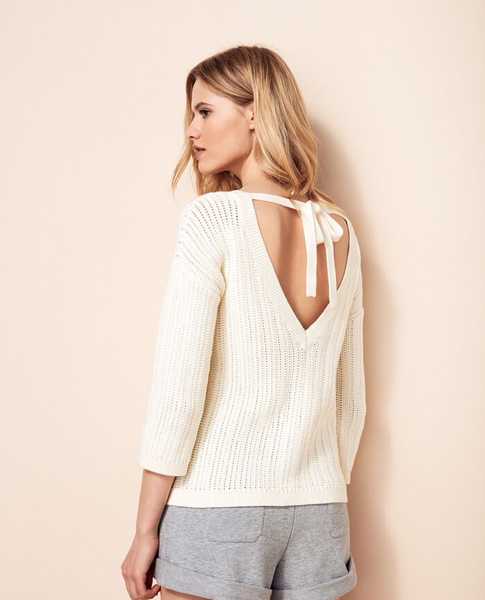 V-neck jumper Ivory Meloe