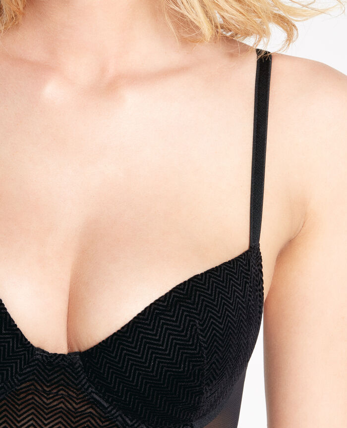 Padded push-up bra Black Nikita