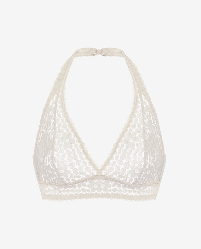 Backless triangle bra Rose white Monica