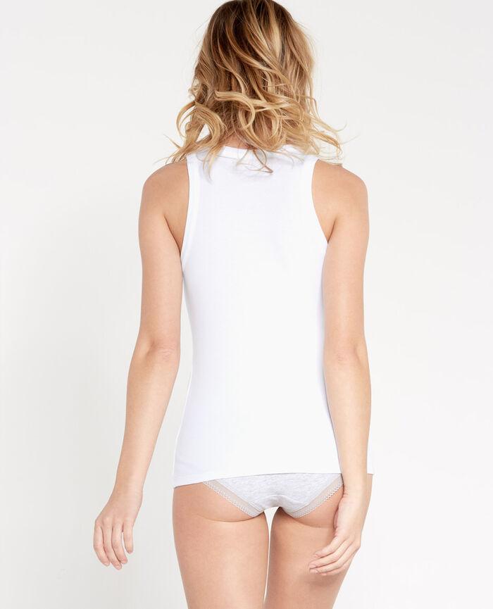 RICKY Blanc T-shirt sans manches