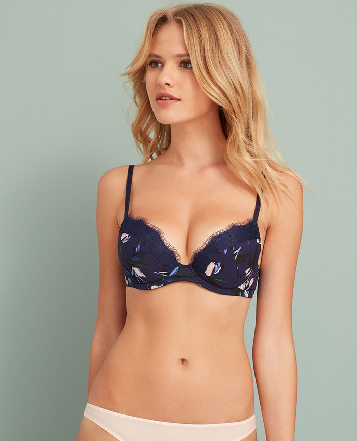 Padded push-up bra Floral Jackpot