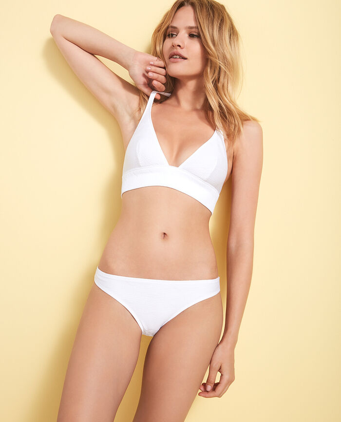 Triangle bikini top White Niala