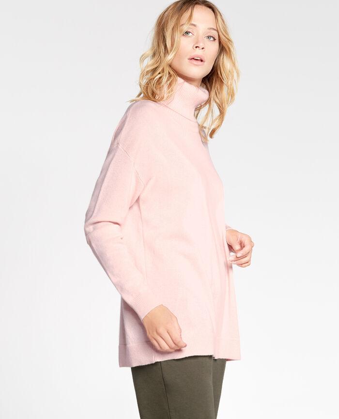 COZY Milky pink Turtle-neck jumper