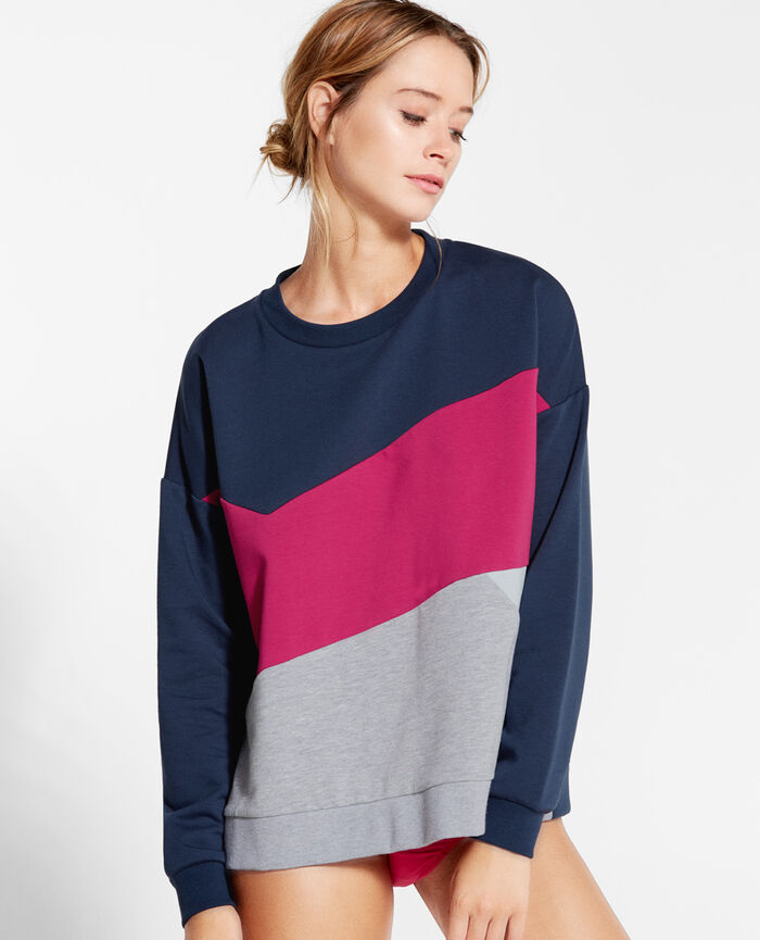 SWEAT COLLECTION Tiefenblau Sweatshirt