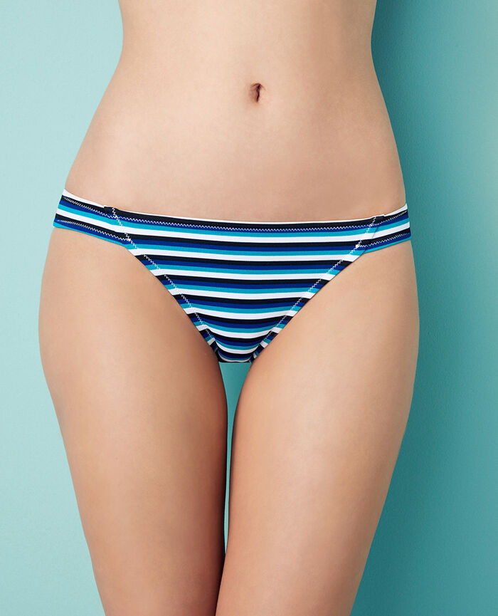 High-cut bikini briefs Blue stripes Princesse tam.tam x uniqlo