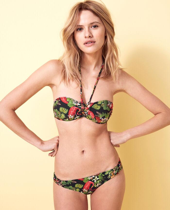LAGOS Multicolour Padded strapless bikini top