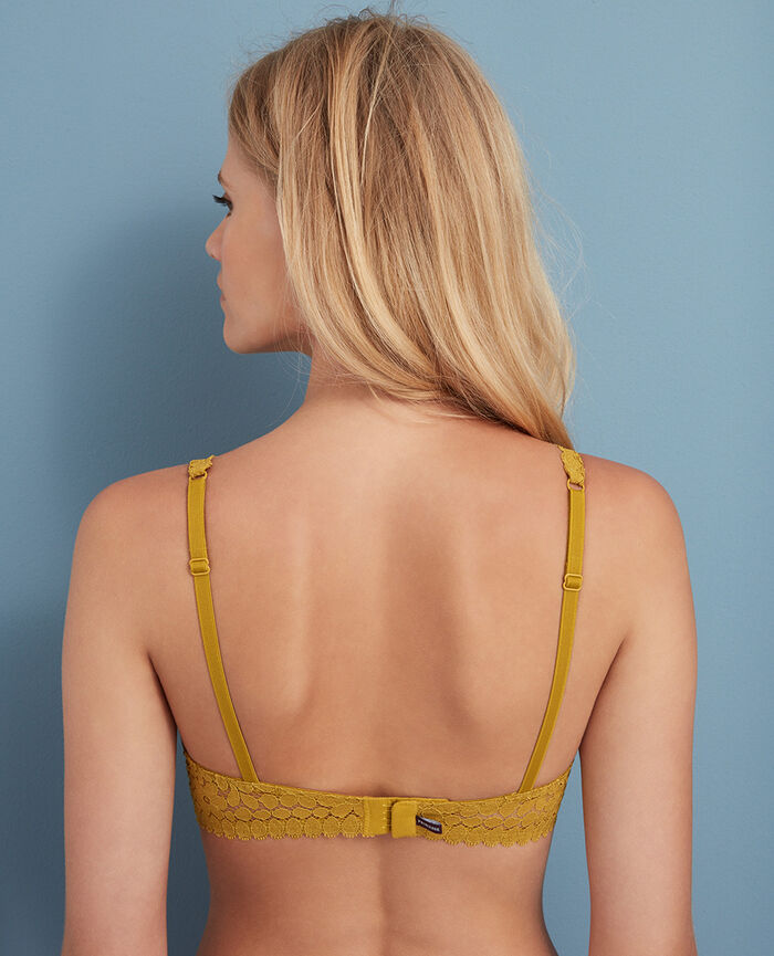 Underwired triangle bra Pickles yellow Monica