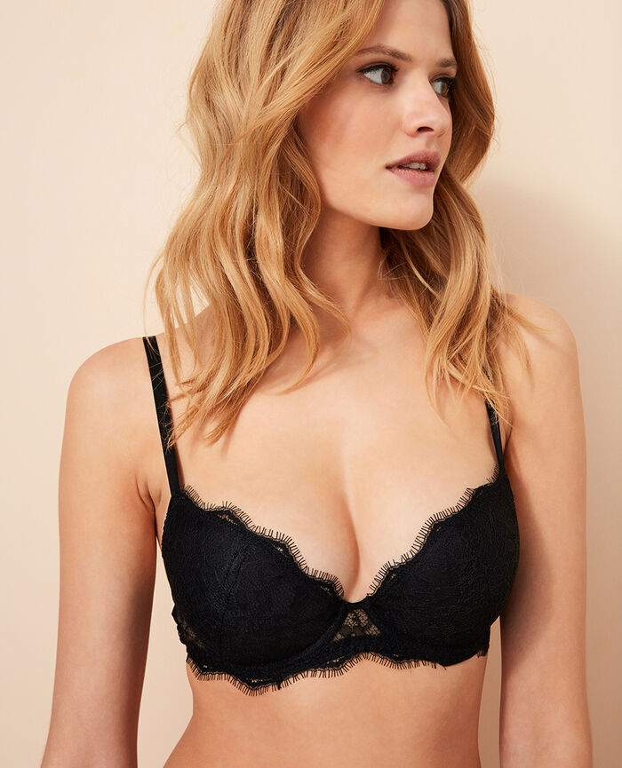 Padded push-up bra Black Taylor