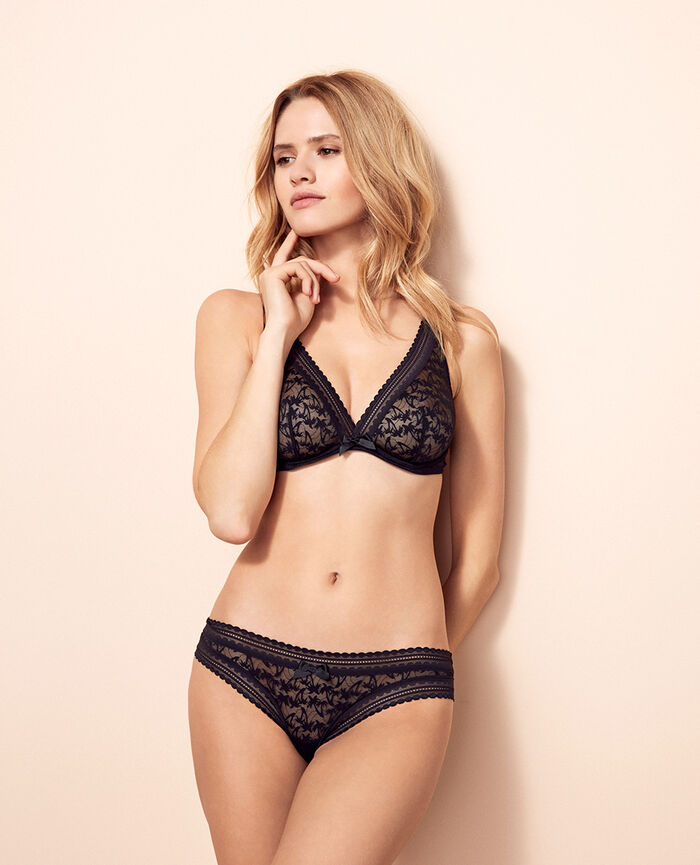Underwired triangle bra Black Bella