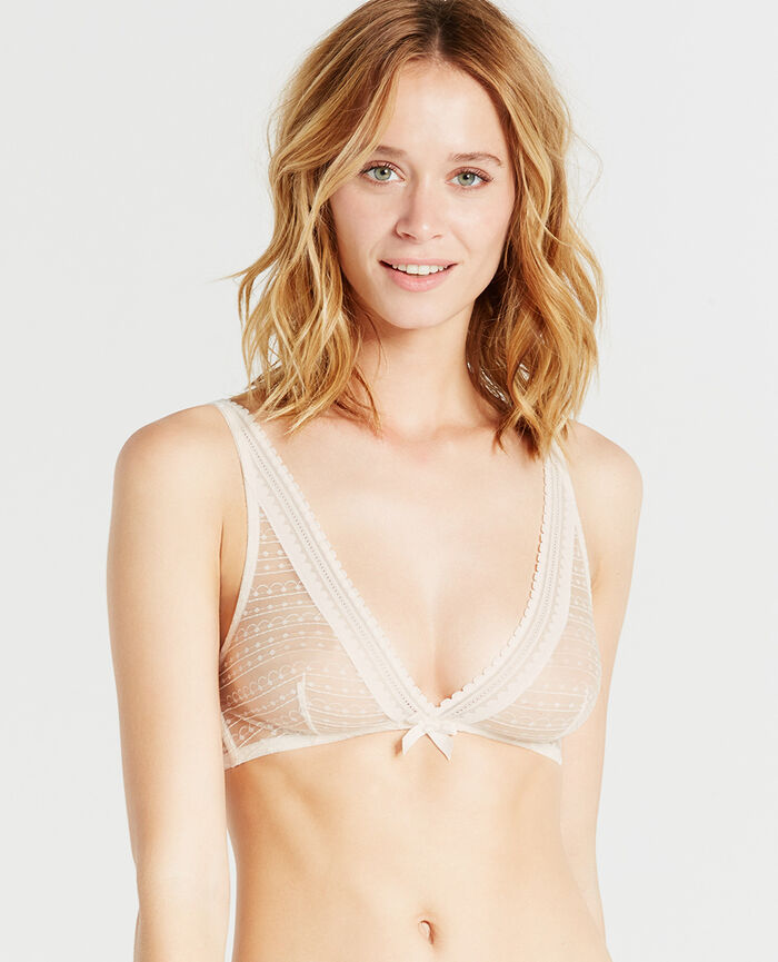 BELLE Rose white Soft cup bra